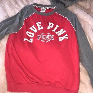 PINK pull over sweatshirt